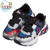 《布布童鞋》SKECHERS_MEGA_CRAFT像素造型銀黑藍橡膠兒童機能運動鞋(17~23公分) [ N0T01LQ ]