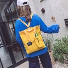 韓版帆布包包女大學生上課側背包