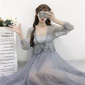 洋裝 洛麗塔洋裝lolita和平之春裙全套蕾絲披肩連衣裙吊帶外穿小清新夏