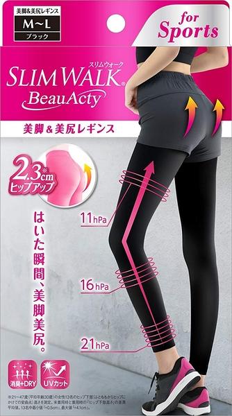 SLIM WALK纖伶 抗紫外線uv 消臭 快乾 3D提臀美腿襪S-M/M-L【JE精品美妝】