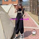 兩件套 背帶褲套裝女夏季薄款韓版時尚九分哈倫褲小個子連體闊腿褲【桃可可服飾】