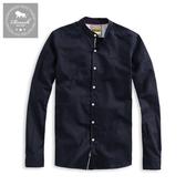 【Roush】 織帶設計亨利領牛津布襯衫 -【915651】