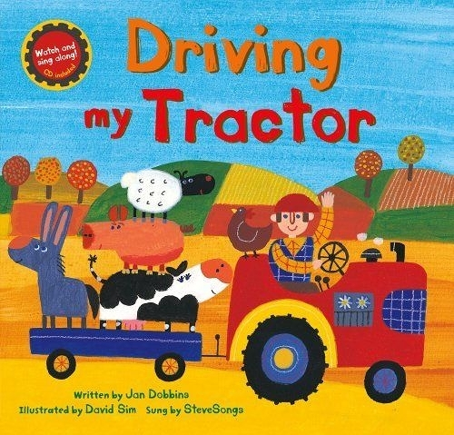 Driving My Tractor 開著拖拉車工作去 平裝繪本(CD一入)