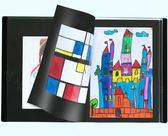 國譽8開A3文件夾畫冊獎狀收集冊圖紙夾兒童美術畫收納作品集第七公社