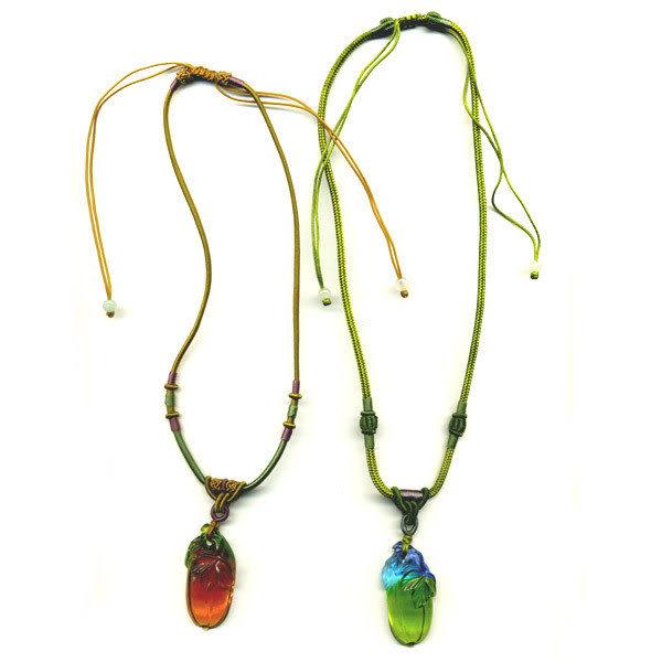 鹿港窯~居家開運水晶琉璃項鍊~香瓜◆附精美包裝◆免運費送到家