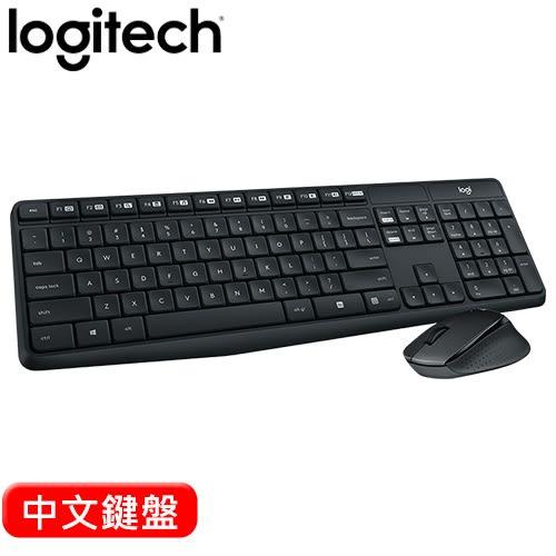 Logitech 羅技 MK315 靜音無線鍵盤滑鼠組 中文