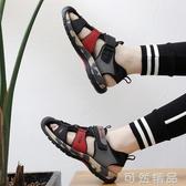 越南涼鞋夏男士學生包頭防滑戶外百搭軟底休閒運動潮流韓版沙灘鞋 可然精品