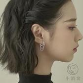 S925純銀耳圈流蘇耳環女耳飾個性耳釘耳墜【小酒窝服饰】