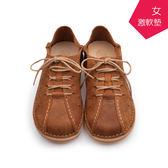 【A.MOUR 經典手工鞋】休閒鞋系列 - 棕 / 氣墊鞋 / 平底鞋 / 嚴選皮革 / 休閒鞋 / DH-7726