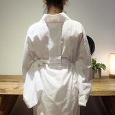 日本和服浴衣羽織白色內搭平紋棉肌襦袢包含領芯【小酒窩服飾】