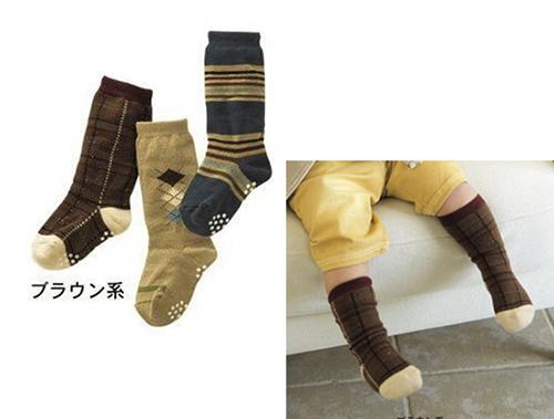 [韓風童品]秋冬款(3雙/組)男女童防滑中筒襪 兒童純棉襪 防滑襪 運動襪  寶寶襪 透氣襪