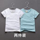 班比納童裝夏裝2018夏季新款男童短袖t恤純棉中大童兒童男孩上衣   夢曼森居家