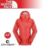 【The North Face 美國 女 FUSE 防水外套《明亮橘》】2SJZ/輕量/防風外套/透氣/登山