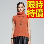 背心毛衣經典款明星同款-羊毛防寒無袖日韓女針織衫2色63aa88【巴黎精品】