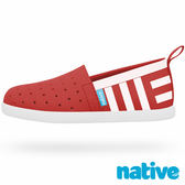 native VENICE PRINT CHILD 威尼斯懶人鞋-蘋果紅水手印花(小童)