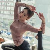 【新年鉅惠】健身衣服運動上衣女跑步短袖T恤緊身罩衫速干長袖訓練瑜伽房服女