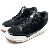 《7+1童鞋》AIR JORDAN 3 RETRO GG 女鞋 3代 氣墊 喬丹 AJ3 膠底 皮革復古休閒鞋 運動鞋 籃球鞋 F897 黑色