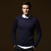 長袖針織衫-英倫經典純色造型男針織毛衣3色73ik47【時尚巴黎】
