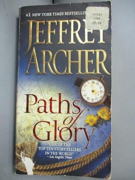 【書寶二手書T5/一般小說_NCI】Paths of Glory_Archer, Jeffrey