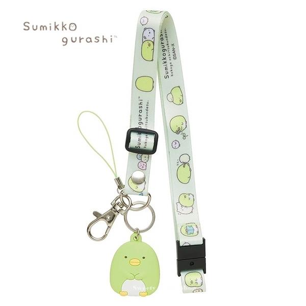 日本限定 角落生物 企鵝 掛鉤 手機吊飾 掛繩頸帶 / 識別證掛鉤掛繩