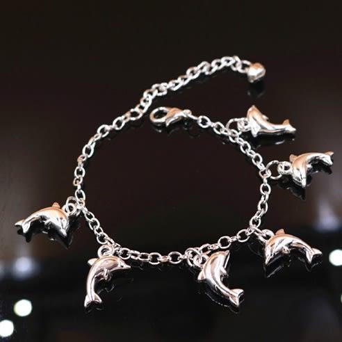 Star 日韓系列 銀色海豚手鏈 - C102