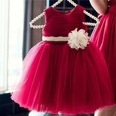 女童夏裝新款寶寶公主裙兒童蓬蓬洋裝子主持人婚紗花童禮服  遇見生活