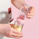 刷油瓶 噴油瓶 調味罐 油罐 01~02 矽膠刷 油醋瓶 玻璃瓶 油瓶 勺蓋一體 刷油瓶【A039】生活家精品
