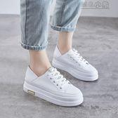 MG 內增高鞋小白鞋女春季韓版百搭基礎鬆糕厚底內增高春款