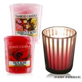YANKEE CANDLE 香氛蠟燭-真愛玫瑰+玫瑰(49g)X2+祈禱燭杯