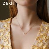 項鍊 ZENGLIU2021年新款項鍊女簡約小眾鎖骨鍊網紅ins愛心吊墜輕奢飾品 晶彩 99免運