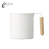 【日本高桑elfin】木把白琺瑯馬克杯-550ml