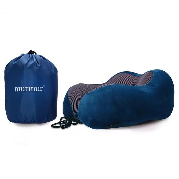murmur 絨毛時尚藍 旅行頸枕 記憶頸枕 U型枕 收納U型記憶舒壓頸枕