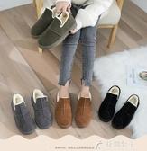 雪地靴冬季新款冬鞋保暖加絨百搭韓版雪地靴女短筒短靴平底學生棉鞋 快速出貨