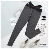 Catworld 交叉腰頭設計彈力運動褲【12001705】‧S/M/L/XL