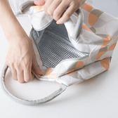 便當袋 簡約清新保溫袋防水鋁箔加厚小號餐盒袋 巴黎春天