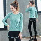 萬聖節快速出貨-秋冬季瑜伽服運動套裝女專業健身房跑步服寬鬆速乾衣大碼