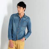 【101原創】台灣設計.仿舊水洗牛仔襯衫上衣(男)共3色