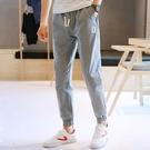 春季褲子男士韓版潮流九分休閒褲2020新款束腳寬鬆運動長褲哈倫褲