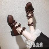 黑色洛麗塔小皮鞋女2019新款英倫風蘿莉粗跟復古春秋單鞋潮 XN5065【優品良鋪】