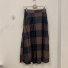 新款印花格子高腰顯瘦中長款半身裙長裙(2...