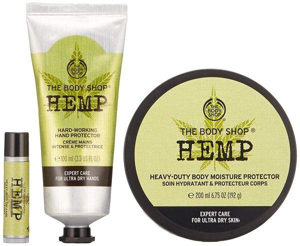 【彤彤小舖】The Body Shop 大麻籽密集修護禮盒組 護手霜 身體滋養霜 護唇膏 3件組 原裝包裝
