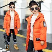 【春季上新】 兒童羽絨服中長款男童羽絨服中大童冬裝加厚保暖女童棉襖外套連帽