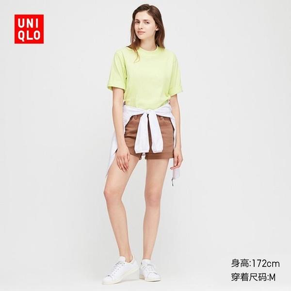 短袖女裝 全棉寬鬆圓領T恤(短袖) 422703 優衣庫UNIQLO