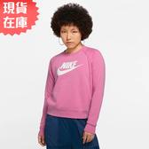 【現貨】NIKE Sportswear Essential 女裝 長袖 大學T 休閒 粉【運動世界】BV4113-693