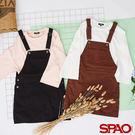 SPAO女款復古色牛仔吊帶裙-共2色...