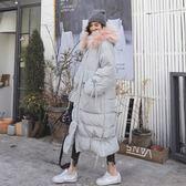 梨卡 - 超美大毛領中長版零下雪地內鋪棉仿羽絨保暖大口袋防風抽繩外套風衣長大衣AR102