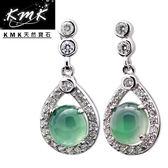 【KMK天然寶石】2.5克拉(南非辛巴威天然綠玉髓-耳環)