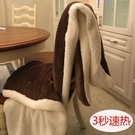 小毛毯沙發蓋毯羊羔絨雙層加厚珊瑚絨辦公室...