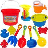(中秋大放價)兒童沙灘玩具車套裝寶寶玩沙挖沙漏桶大號鏟子決明子工具嬰兒洗澡