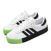adidas 休閒鞋 Sambarose W 白 黑 綠 女鞋 運動鞋 鬆糕鞋 【PUMP306】 EF4967